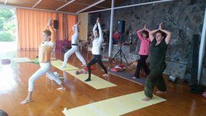 clase de yoga con Donata Medina