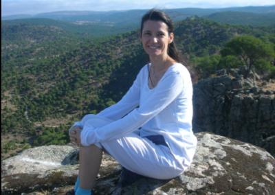 Rebeca Greciano en el retiro de conciencia y plenitud